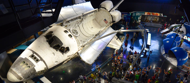 NASA Space Shuttle Atlantis Exhibit at Kennedy Space Center Visitor Complex