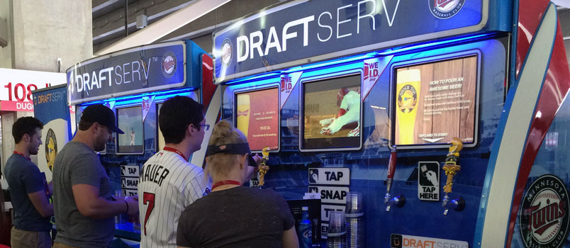 DraftServ, a self-serve beer station at Target Field