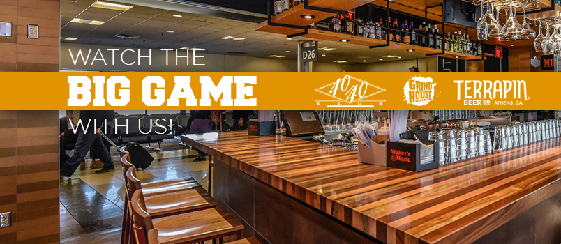 Airport bar - Watch the Big Game with Us