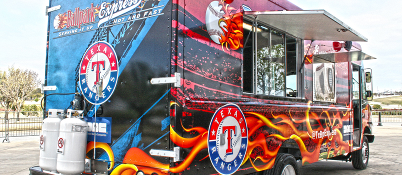 Texas Rangers Food Truck